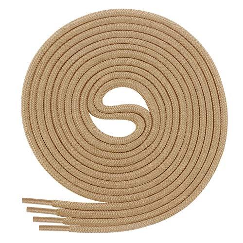Di Ficchiano Schnürsenkel, Rundsenkel für Business- und Lederschuhe, reißfester Allroundsenkel, ø 3mm Farbe beige Länge 60cm