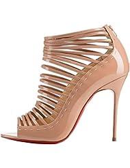 Arc-en-Ciel zapatos de las mujeres del tacón alto de la sandalia de gladiador