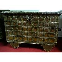 Alte forziere de madera y hierro L116X PR62X H83cm - Muebles de Dormitorio precios