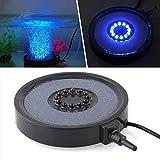 Unterwasser LED 12 runden Aquarium Lichter, Fisch-Behälter-Beleuchtung, mit Luft Stein Blasé