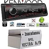 Opel Vectra A+B - Autoradio Radio Kenwood KMM-204 - MP3 | USB | iPhone - Android - Einbauzubehör - Einbauset