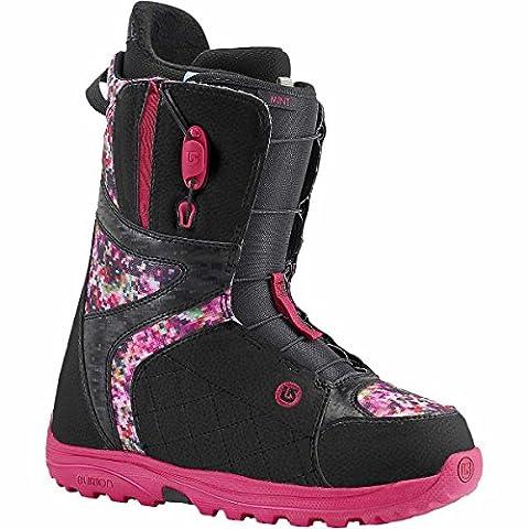 Burton Mint Women's Snowboard Boot - Black/Floral Pixel UK Women's 5