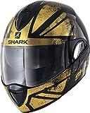 Shark Motorradhelm EVOLINE 3 TIXER KUQ, Schwarz/Gold, L