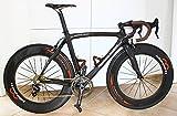 Feathery Carbon Rennrad Rahmen mit Gabel, Vorbau, Steuersatz, Sattelstütze.