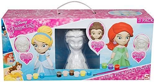 Disney attività creative per bambini 3-10 anni, set pittura con disney principesse personaggi cenerentola belle e ariel, gioco educativo bambina, pupazzo da colorare, idee regalo per bambini
