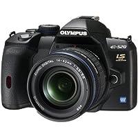Olympus E-520 SLR-Digitalkamera (10 Megapixel, LifeView, Bildstabilisator) Kit inkl. 14-42mm & 40-150mm Objektive