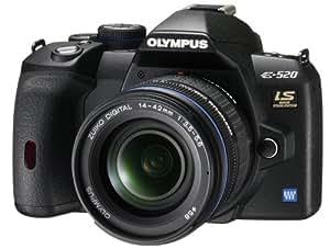 Olympus E-520 Appareil photo numérique Reflex 10 Mpix Kit ZUIKO DIGITAL ED 14-42 mm Noir