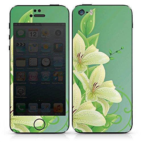 Apple iPhone SE Case Skin Sticker aus Vinyl-Folie Aufkleber Lilie Blume Lilly DesignSkins® glänzend