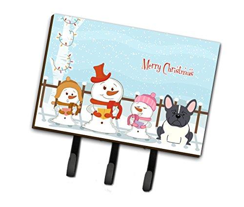 Caroline Leinen (Caroline 's Treasures bb2343th68Merry Christmas Carolers Französische Bulldogge schwarz weiß Leine oder Schlüsselhalter, Triple, multicolor)