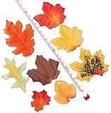 Luxbon 100 Stück künstliche Herbst Ahornblätter Wandbild Türschild Hochzeit Party Deko verschiedene Farben und Größen - 3