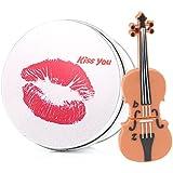 anvor® 16G silicona violín música dispositivo de almacenamiento de datos USB Memory Stick unidad flash y caja de metal de embalaje, de la novedad lindo regalo/presente