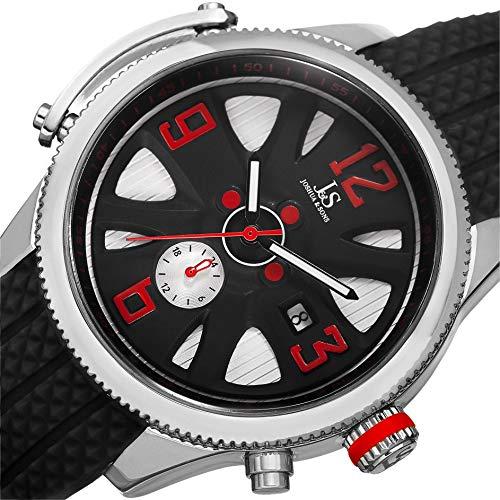 Joshua & Sons Reloj con Movimiento Cuarzo Suizo JX101SSB Negro 44 mm