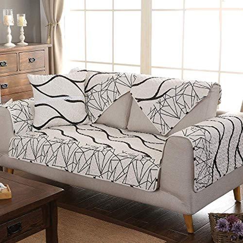 ZTMN Anti-Rutsch Gesteppte Möbel Protektoren umfasst für Haustier Hund, Moderne Sofa Schonbezug Sofa Wurf Abdeckung Pad für die ganze Saison l u geformte Sofa-1 Stück-D 70x210cm (28x83inch) -