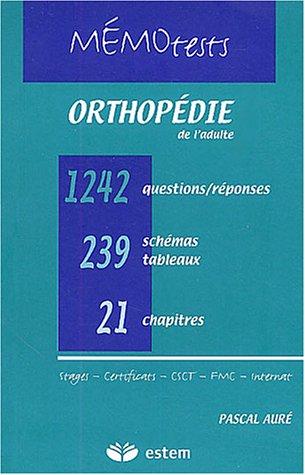 Orthopédie de l'adulte