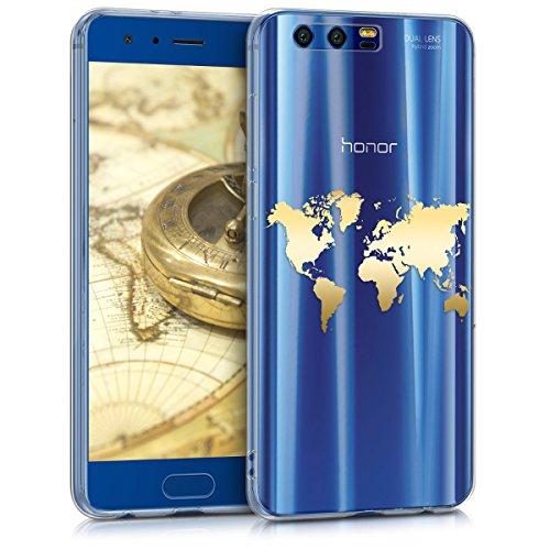 kwmobile Huawei Honor 9/9 Premium Hülle - Handyhülle für Huawei Honor 9/9 Premium - Handy Case in Gold Transparent