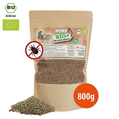 WachtelGold Bio-Wachtelkorn 800g - Wachtelfutter Pellets - Bio Legekorn Biofutter