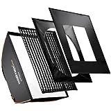 Walimex Pro Softbox Plus Boîte à lumière pour Aurora/Bowens 60 x 90 cm Orange Line