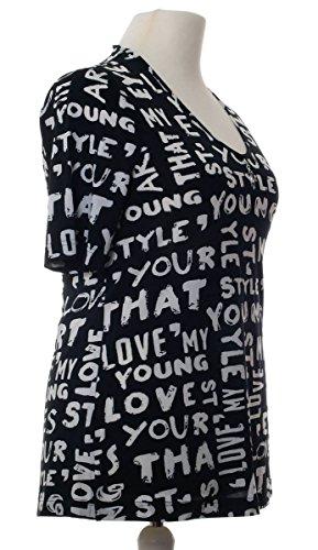 Longshirt von Sempre Piu 2 Schwarz / Weiß