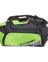 Kawasaki Ogio mochila, bolsa de viaje, bolsa de deporte, bolsa de hombro, bolsa de viaje – negro/verde de bikerworld