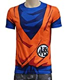 Brinny Klassische Anime Dragon Ball Z Super Saiyan 3D T-Shirt T-Shirt Cartoon Vegeta Armour T,1 M