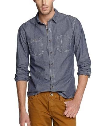 edc by ESPRIT 102Cc2F012 Men's Shirt -  Fisher Blue - X-Small