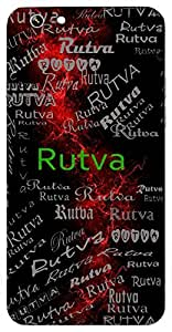 Rutva (Speech) Name & Sign Printed All over customize & Personalized!! Protective back cover for your Smart Phone : Xiaomi Redmi Note 3