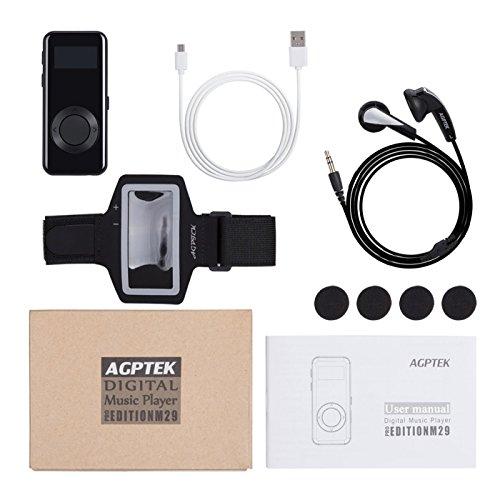 AGPTEK-M29-Lettore-MP3-8-GB-Metallico-con-Radio-FM-e-Fascia-da-Braccio ...