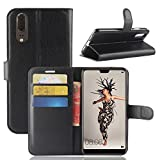 Coque Huawei P20 - NAVT Portefeuille Étui Housse en PU de première qualité pourHuawei P20 Smartphone