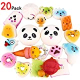 ZesGood 20pcs Squishies Toys Slow Rising Soft Toys Squishy Bread Toys Key Phone Chain Bread/Buns Phone Charm Key Chain Strap Squishy Bread Toys Squishies Slow Rising (Random Colour)