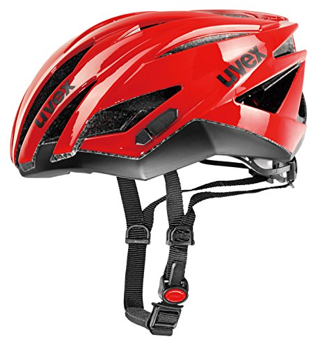 Uvex Ultrasonic Race - Casco de ciclismo Red/Black Talla:52-56cm