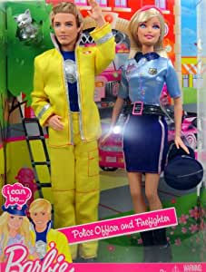 Barbie I Can Be Police Officer And Firefighter