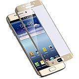 Samsung Galaxy S7 Edge -Gold- Curved Panzerglas Panzerfolie Schutzfolie 9H 2.5D 0.33mm tempered glass Hart-Glas Screen Schutz-Folie Screen Protector Displayschutzfolie thematys®