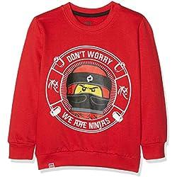 LEGO Wear Boy Ninjago CM-73088, Sudadera para Niños, Rojo (Red 365), 10 años