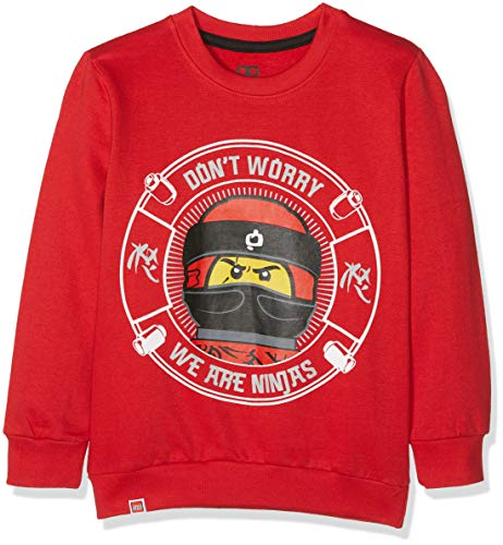 Lego Wear Jungen Lego Boy Ninjago CM-73088 Sweatshirt, Rot (Red 365), 122