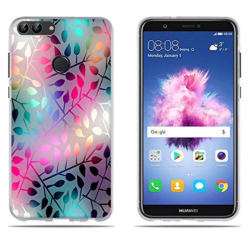 DIKAS Hülle für Huawei P smart/Enjoy 7S, 3D Erleichterung Fantasie Muster Künstlerische Malerei-Reihe TPU Case Schutzhülle Silikon Case für Huawei P smart/Enjoy 7S (5.65