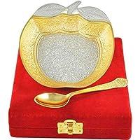 TUZECH - Cuenco con cuchara (bañado en oro y plata, ...
