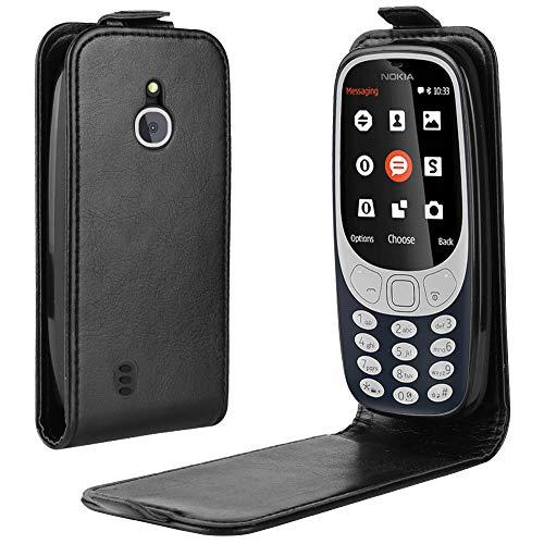 95Street Custodia per Nokia 3310 3G 4G, Case in PU Pelle Internamente Silicone TPU Cover, Funzione Stand, Porta Carte e Protettiva Flip Portafoglio Case Con Chiusura Magnete per Nokia 3310 3G 4G