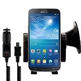 kwmobile KFZ Halterung für das Samsung Galaxy Mega 6.3 - PKW Auto Halter mit Saugnapf in Schwarz + Ladegerät