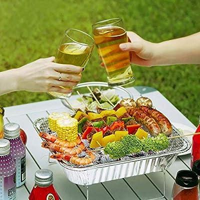 DZQZR Travel Familiengröße Einweg-Grill für 3-5 Personen Outdoor-Party Picknicks Camping, mit Holzkohle DMZ