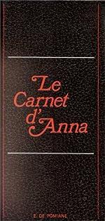 Le carnet d'Anna de Edouard de Pomiane