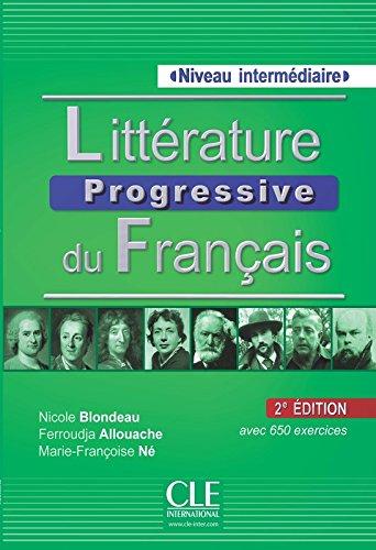 Littérature Progressive Du Français. Niveau Intermédiaire - 2ª Editión (Livre + CD Audio) por Vv.Aa.