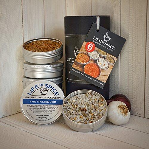 Life of Spice Gourmet Herb & Spice Collection - Confezione di 6 Sali, Rub e Miscele di Erbe Life of Spice