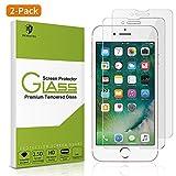 MORNTTE Panzerglas Schutzfolie für iPhone 7 und iPhone 8【2 Stück】【HD Displayschutzfolie】【9H Härte】【Anti-Öl 】【Anti-Kratzen】【Anti-Bläschen】 Screen Protector Glas