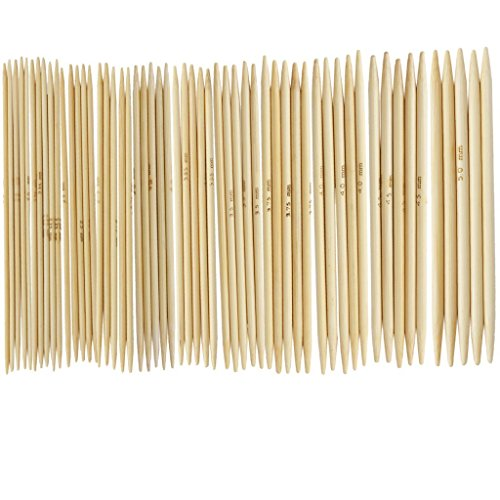 11x 5x 12,4cm Bambus Double Point Stricknadeln 2.0-5.0mm -