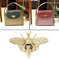 Jiamins Turn Lock for Purses Handbag Bee Shape Clasp Decoration Metal Hardware DIY Shoulder Bag Making Tool (Gold)