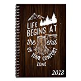 #8: Yaya Cafe Tyyc New Year Gifts Diary 2018, Life Begins At The End Of Your Comfort Zone Motivational Quotes Both Side Printed Diary