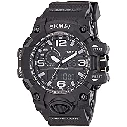 Skmei Analog-Digital Multi-Colour Dial Unisex Watch - 1155BB