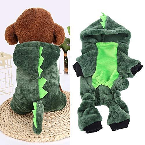 Dinosaurier Kostüm Ziel - DOGCATMM Winter Warme Haustierkleidung Für Kleine Hunde Chihuahua Kleidung Halloween Dinosaurier Hundekostüm Hoodie Welpen Haustier Katze Mantel Jacke