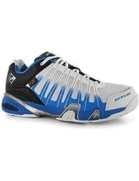 Dunlop Ultimate Lite Squash calzado de caucho zapatillas suela lobulado multicolor blanc y azul Talla:13