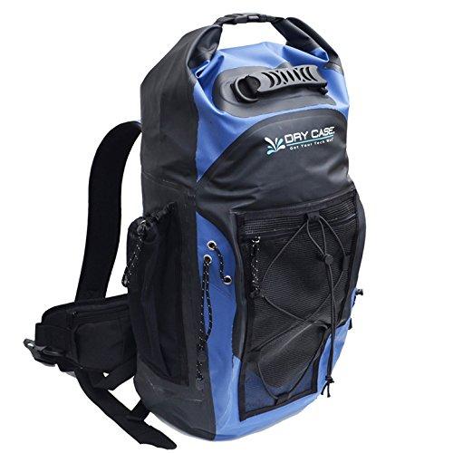 DryCASE Dry Case Masonboro Outdoor Wanderrucksack 35 L Rucksack, Blau/Schwarz, 71.12 x 38.1 x 22.86 cm, 35 Liter, wassericht mit Ventil